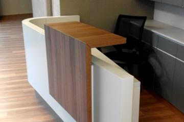 reception desk in physiotherapy