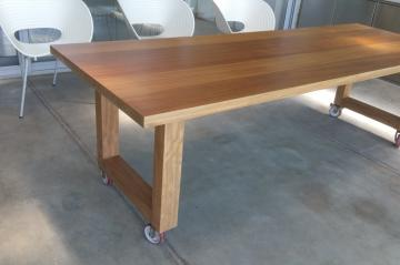 Outdoor table, solid wood